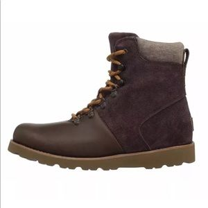 53961c11f49 UGG Australia Halfdan Brown Mens Boots Grizzly NWT